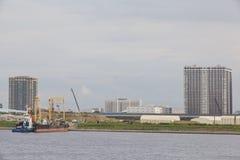 Área del embarcadero de Tokio Harumi Fotos de archivo libres de regalías