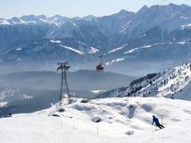 Área del esquí Imagenes de archivo