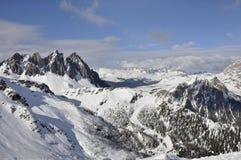 Área del esquí de Ces, dolomías Fotos de archivo libres de regalías