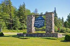 Área del esquí de la montaña de Whiteface, Adirondacks Imagen de archivo