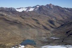 Área del esquí en Kurzras Maso Corto - visión desde arriba fotografía de archivo libre de regalías