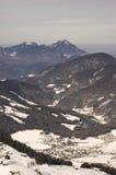 Área del esquí en Soell (Austria) Imagen de archivo