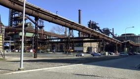 Área del horno del VÃtkovice más bajo Ostrava almacen de video