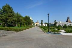 Área del Kremlin en Astrakhan Rusia Foto de archivo