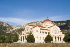 Área del monasterio de Agh Gerasimou, Kefalonia, septiembre de 2006 Foto de archivo libre de regalías