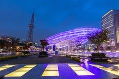 Área del parque público del oasis 21 de Nagoya Foto de archivo