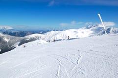 Área del pase gratis en Chopok en la estación de esquí de Jasna Imagen de archivo libre de regalías