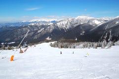 Área del pase gratis en Chopok en la estación de esquí de Jasna Fotos de archivo libres de regalías