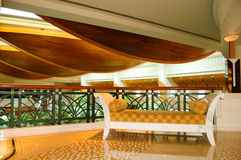Área del pasillo de la recepción en hotel de lujo imagenes de archivo