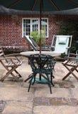 Área del patio foto de archivo