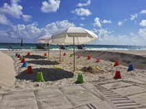 Área del patio de la playa Imagenes de archivo