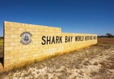 Área del patrimonio mundial de la bahía del tiburón, WA Foto de archivo libre de regalías