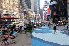 Área del peatón del Times Square foto de archivo