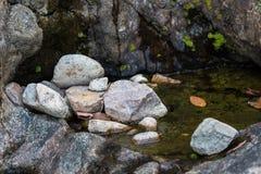 Área del río de la montaña de la roca Fotografía de archivo libre de regalías