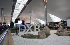 Área del tránsito del aeropuerto de Dubai International Foto de archivo libre de regalías