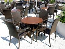Área dinning ao ar livre Imagem de Stock Royalty Free