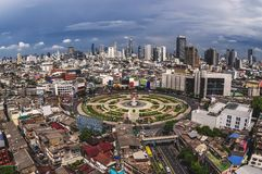Área do círculo de Wong Wien Yai, Banguecoque Fotos de Stock