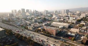 Área do centro CA do norte da baía da skyline da cidade de Oakland Califórnia vídeos de arquivo