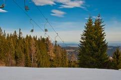 Área do esqui Foto de Stock Royalty Free