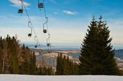 Área do esqui Fotografia de Stock Royalty Free