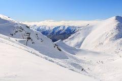 A área do esqui dos remarkables Imagens de Stock