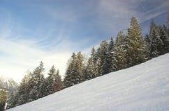 Área do esqui em Soell (Áustria) Fotos de Stock Royalty Free