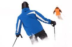 Área do esqui em Soell (Áustria) - esquiadores Fotografia de Stock