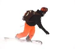 Área do esqui em Soell (Áustria) - snowboarder Fotografia de Stock Royalty Free
