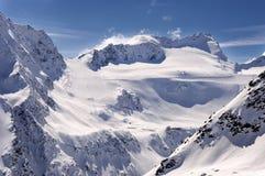 Área do esqui na geleira de Rettenbach, Solden, Áustria Fotos de Stock