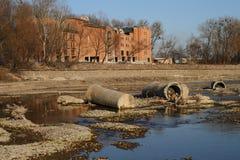 Área do local no rio Imagem de Stock