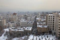 Área do norte da cidade de Tehran Imagem de Stock
