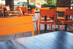 Área do pátio do restaurante imagens de stock royalty free