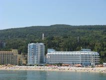 Área dourada de Varna das areias de Bulgária Foto de Stock