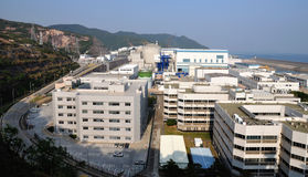 Área elétrica nuclear da central energética Imagens de Stock Royalty Free