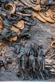 Área escénica de Buda del gigante de Lingshan y x22; abajo monstruos Road& x22; escultura de cobre grande Fotografía de archivo
