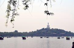 Área escénica de Shichahai cerca de Pekín China Fotos de archivo