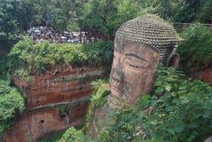 Área escénica del Monte Emei, incluyendo el área escénica magnífica de Leshan Buda imagen de archivo libre de regalías
