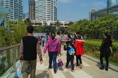 Área escénica del turismo del mundo del mar de Shenzhen Shekou Imágenes de archivo libres de regalías