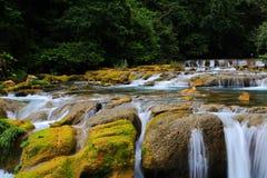 Área escénica del xiaoqikong de Guizhou Libo Foto de archivo