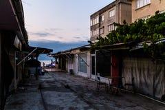 Área espeluznante Desolated cerrada del Funfair - Turquía Fotos de archivo