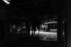 Área espeluznante Desolated cerrada del Funfair - Turquía Imagen de archivo