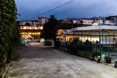 Área espeluznante Desolated cerrada del Funfair - Turquía Fotos de archivo libres de regalías