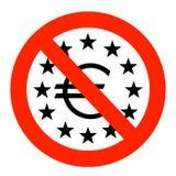 Área euro en apuros Imagen de archivo libre de regalías