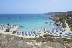 Área Europa de Protaras de la playa de Chipre Imagen de archivo