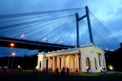Área famosa de la Kolkata-India Imagen de archivo libre de regalías