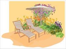 Área floreciente ilustración del vector