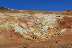 Área geotérmica Foto de archivo libre de regalías