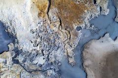 Área geotérmica Fotografía de archivo libre de regalías