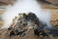 Área geotérmica de Hverir Foto de archivo libre de regalías