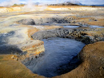Área geotérmica de Myvatn (Islândia) Imagem de Stock